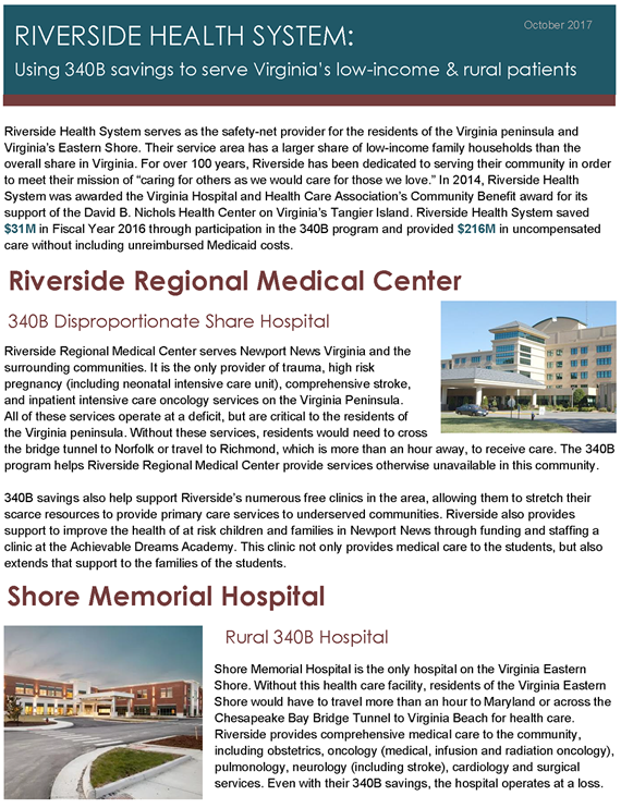 Riverside Health System Impact Profile
